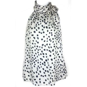 Cynthia Rowley | Silk Dot Sleeveless Top Small